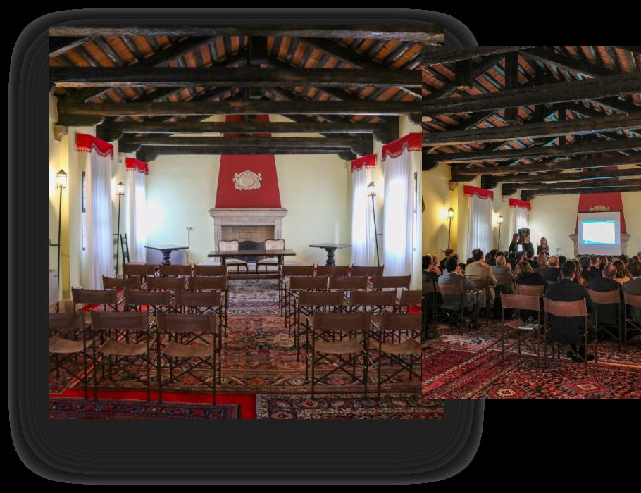sala camino castello san pelagio